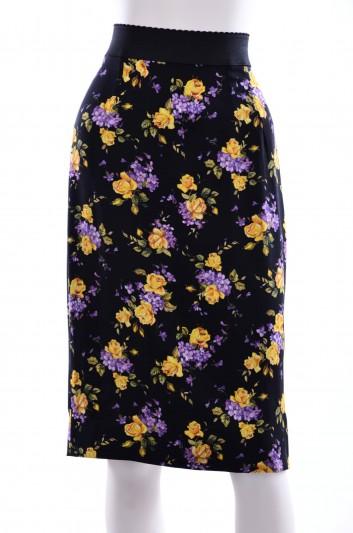 Dolce & Gabbana Women Flowers Print Midi Skirt - F4AG7T FSAST