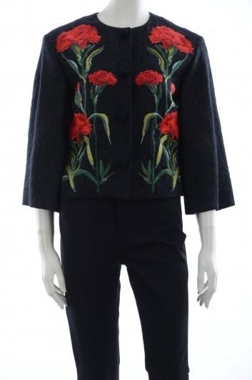 Dolce & Gabbana Women Embroidery Flowers Outerwear Jacket - F281NZ GD90E
