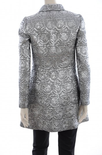 Dolce & Gabbana Women Jewel Buttons Brocade Coat - F0S01Z FJMZ3