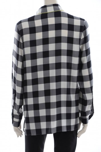 Dolce & Gabbana Women Scuare Print Long Sleeve Shirt - F5G49T FSAM8