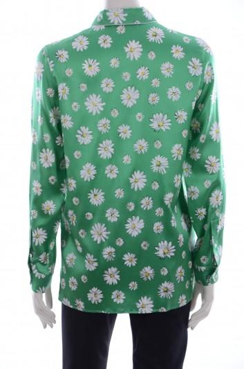 Dolce & Gabbana Women Daisies Print Long Sleeve Shirt - F5G49T TSABE