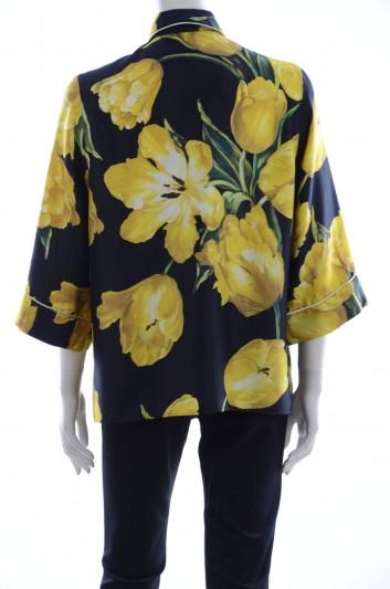 Dolce & Gabbana Women Tulips Print Blouse - F5G81T HS1E5