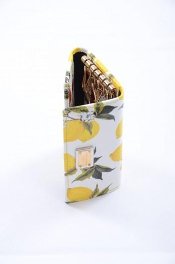 Dolce & Gabbana Women Plate Lemons Print Keyholder - BI0090 B3403