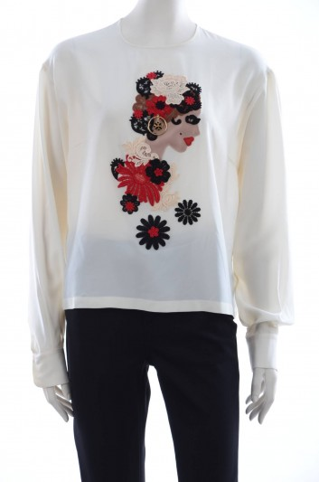 Dolce & Gabbana Women Embroidery Jewel Blouse - F7N04Z G7CEG