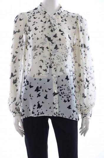 Dolce & Gabbana Women Butterflies Blouse - F5D12T TSMA6