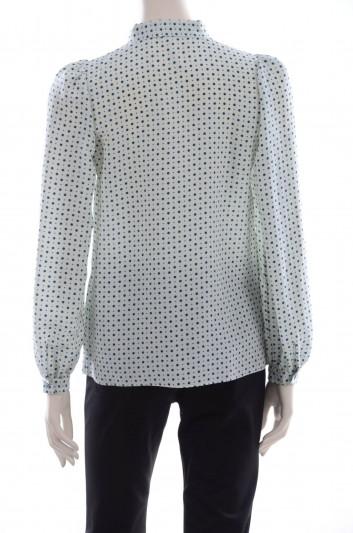 Dolce & Gabbana Women Dot Print Blouse - F5D12T HS1AL
