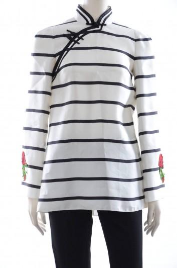 Dolce & Gabbana Women Mao Neck Embroidery Blouse - F7W94Z HS1D1