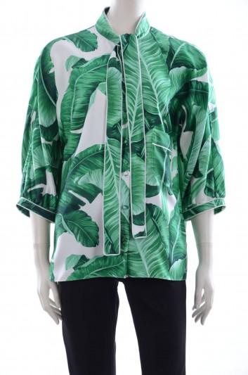 Dolce & Gabbana Women Banana Leaf Print Blouse - F5G76T HS1EI