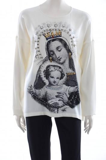Dolce & Gabbana Women Pearls Jewel Blouse - F7W30Z FPAND