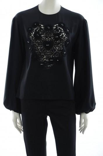 Dolce & Gabbana Blusa Bordada Mujer - F7O78Z G7CAI