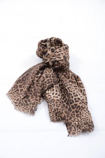 Dolce & Gabbana Women Print Animal Scarf - FQ020R G3Z03