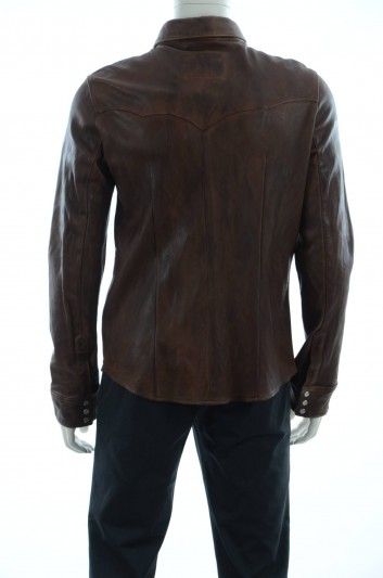 Dolce & Gabbana Men Leather Shirt - G5DP6L FUL7Y