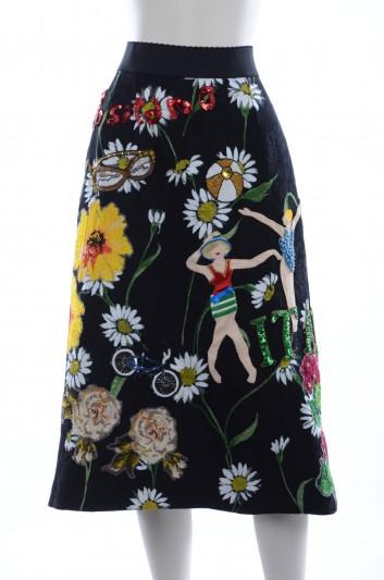 Dolce & Gabbana Women Italia Embroidery Midi Skirt - F4AHFZ FSMV8