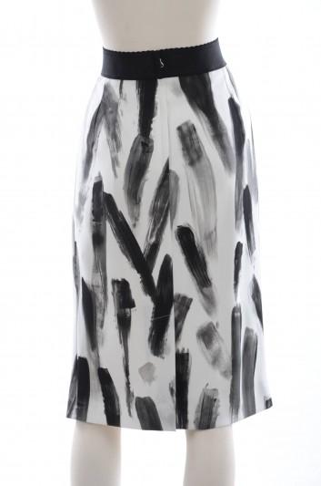 Dolce & Gabbana Women Brush Print Midi Skirt - F4AJOT FSRGW