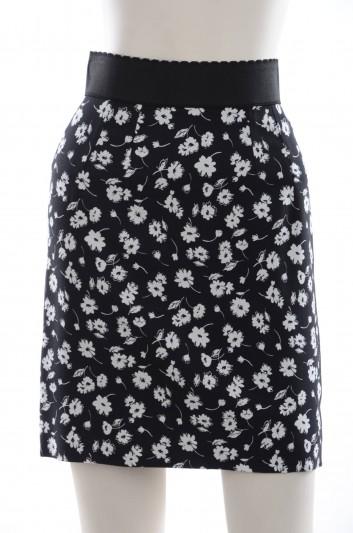 Dolce & Gabbana Women Flowers Print Short Skirt - F4ACVT FSRE3