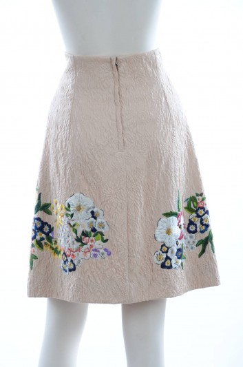 Dolce & Gabbana Women Flowers Embroidery Short Skirt - F4W08Z GD45C