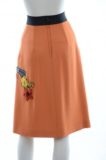 Dolce & Gabbana Women Embroidery Midi Jewel Skirt - F4AL2Z FU2TZ
