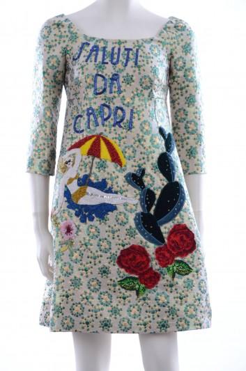 Dolce & Gabbana Women Embroidery Short Dress - F6VE3Z FJMVR