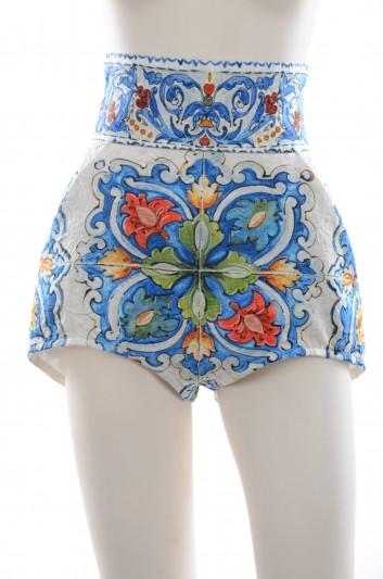 Dolce & Gabbana Women Maiolica Print Culotte - I3697W FPMUR