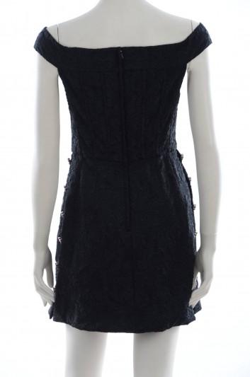 Dolce & Gabbana Women Jewel Buttons Short Dress - F67C0T FJRCE