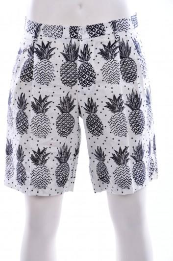 Dolce & Gabbana Men Pineapple Print Bermuda - G6YEET FS4DU