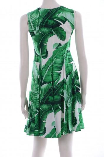 Dolce & Gabbana Women Banana Lef Print Libellula Detail Short Dress - F6YI4Z FSRGZ