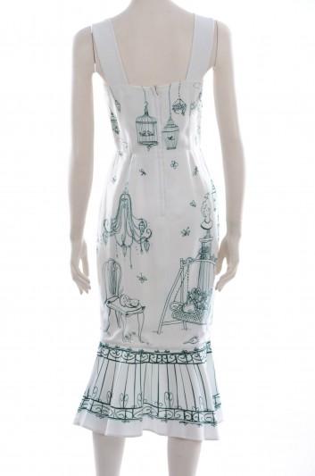Dolce & Gabbana Women Cinderella Print Midi Dress - F6SE6T GDC62