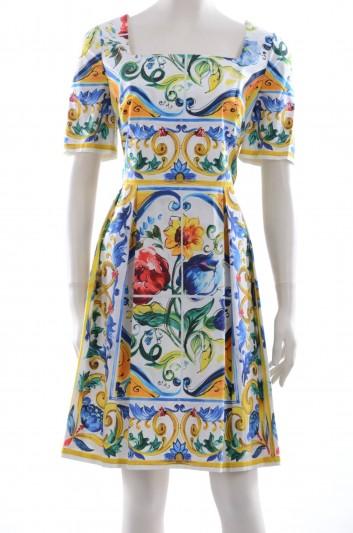 Dolce & Gabbana Women Maiolica Short Dress - F6YA2T FP5ZN