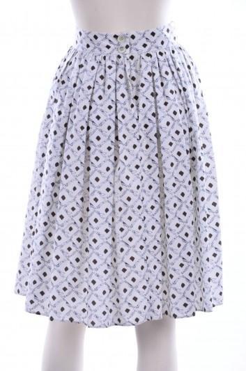 Dolce & Gabbana Women Planes Print Midi Skirt - F4AJ3T FS5OD