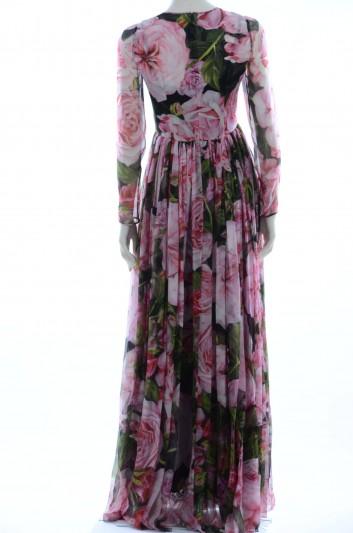Dolce & Gabbana Women Peonias Long Dress - F6ZX9T GDC89
