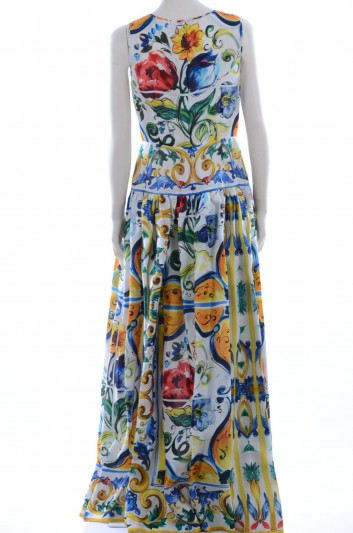Dolce & Gabbana Women Maiolica Print Long Dress - F6ZX8T HP15F