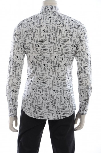 Dolce & Gabbana Men Instruments Print Shirt - G5EB2T FSEFK