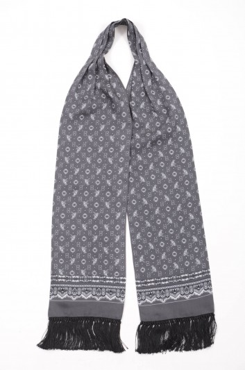 Dolce & Gabbana Men Printed Silk Scarf - GQ227E G3JAA