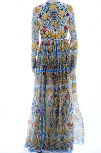 Dolce & Gabbana Women Maiolica Long Dress - F6ZX9T HP14N