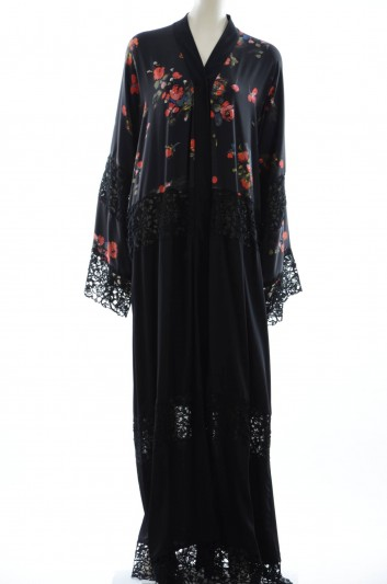 Dolce & Gabbana Women Lace Flowers Print Abaya - F6YH8T FSADV