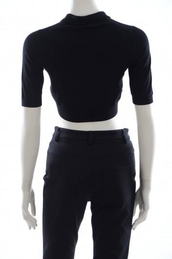 Dolce & Gabbana Women Embroidery Mimosa Short Sleeve Polo - FL463K F59B1