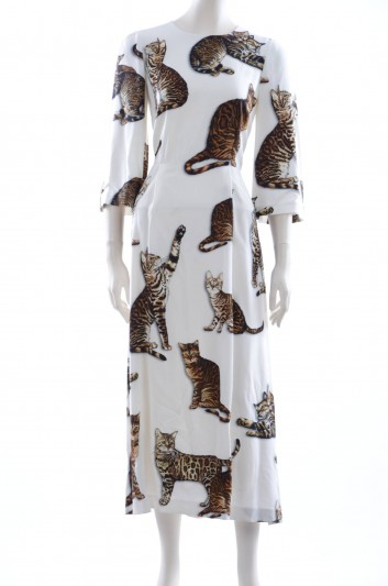 Dolce & Gabbana Women Print Cats Long Dress - F62G6T FSRHA