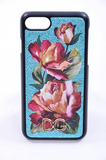 Dolce & Gabbana Funda Iphone 7/8 Estampado Rosas Logo Mujer - BI2235 AI898