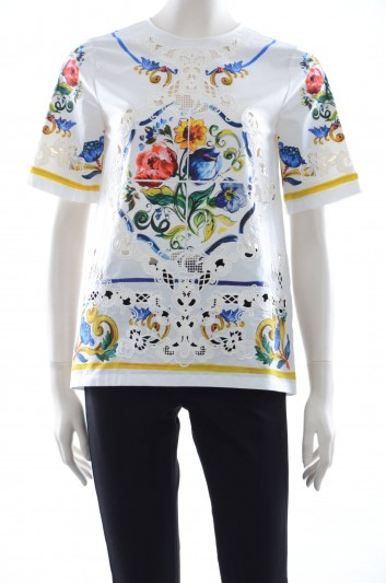 Dolce & Gabbana Women Maiolica Top - F7X51Z GD26M