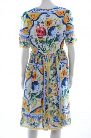 Dolce & Gabbana Women Maiolica Midi Dress - F6YA6T FH1DF