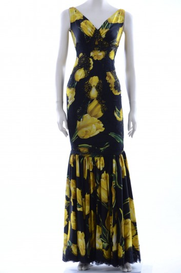 Dolce & Gabbana Women Tulip Printed Long Dress - F6YQ9T FSAMY