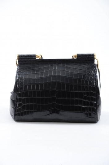 Dolce & Gabbana Women Sicily Crocodile Bag - BB4450 A2F64
