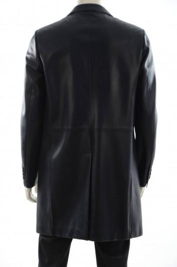 Dolce & Gabbana Men Leather Long Jacket - G2FY8L FUL21