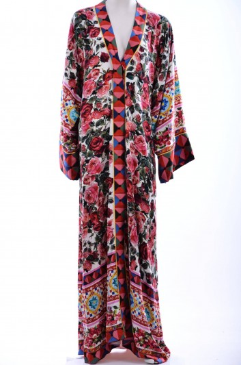 Dolce & Gabbana Women Print Flowers Abaya - F61G5T GDC82
