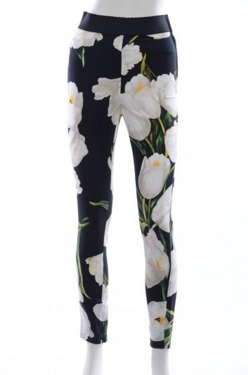 Dolce & Gabbana Women Tulips Print Pants - FTAL3T FSRG3