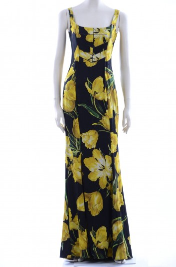 Dolce & Gabbana Women Floral Print  Long Dress - F61I1T FSAMY