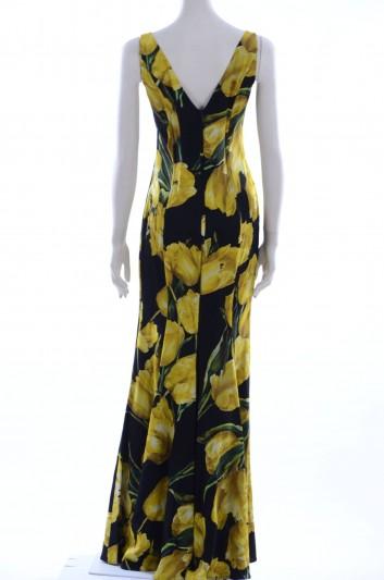 Dolce & Gabbana Vestido Largo Estampado Flores Mujer - F61I1T FSAMY