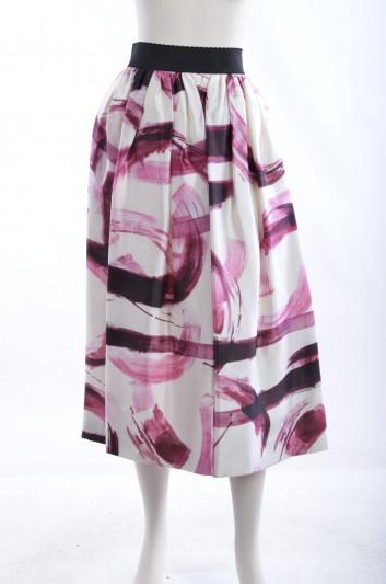 Dolce & Gabbana Women Brush Print Jacket Long Skirt - F4AGGT HS1DV