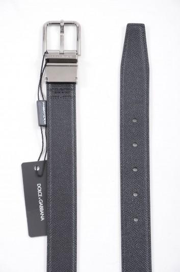 Dolce & Gabbana Cinturón Reversible Logo Hombre - BC4107 AB059