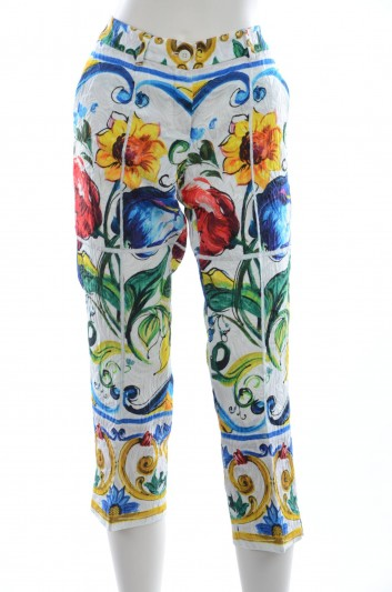 Dolce & Gabbana Maiolica Women Pants - FTAM3T FPM5D